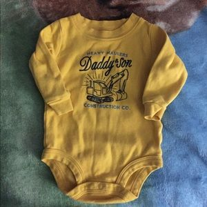 Long Sleeve Daddy & Sons Construction Onesie